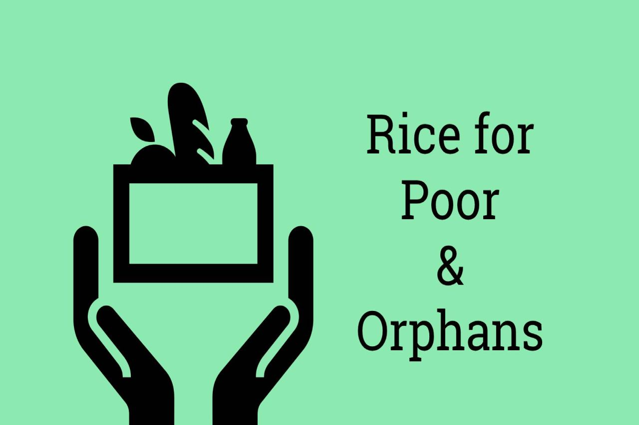 Rice for Poor & Orphans